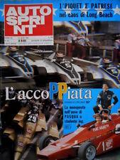 Autosprint 14 1980 Long Beach: 1° Piquet 2° Patrese. Fotoclub Tissot. F2 SC.53