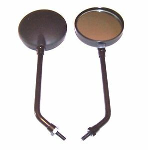 MOTORCYCLE SCOOTER MIRRORS PAIR FITMENT CHROME 10mm R//H THREADS ALL METAL