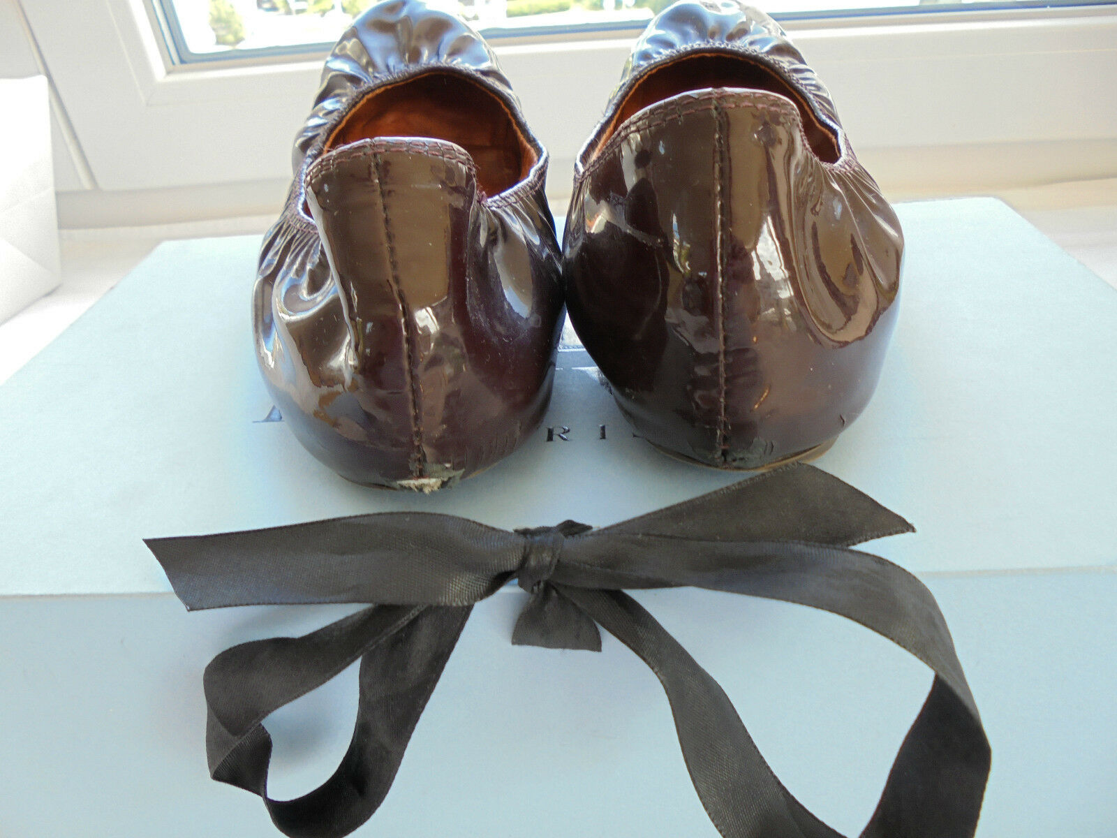 Lanvin Paris Lackleder Ballerinas NP  + OVP Karton Karton OVP Schuhe Pumps 36 36,5 37 8074ab