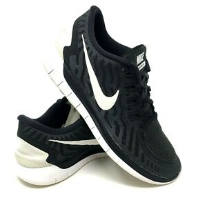 sports shoes 50ed4 4e06f Details about Women's Nike Free 5.0 Women's US 10.5 Black White Running  Training 724383-002