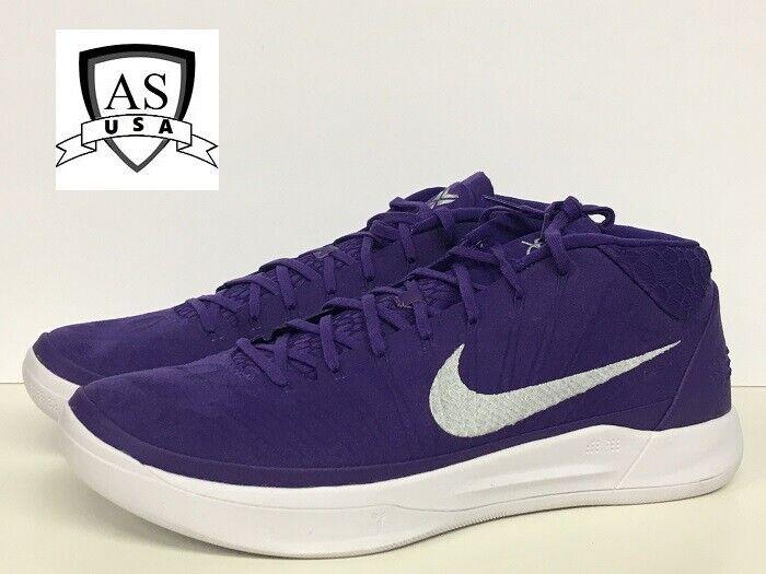 Nike Kobe AD TB Promo Mens Basketball shoes 942521-502 Court Purple Silver 15