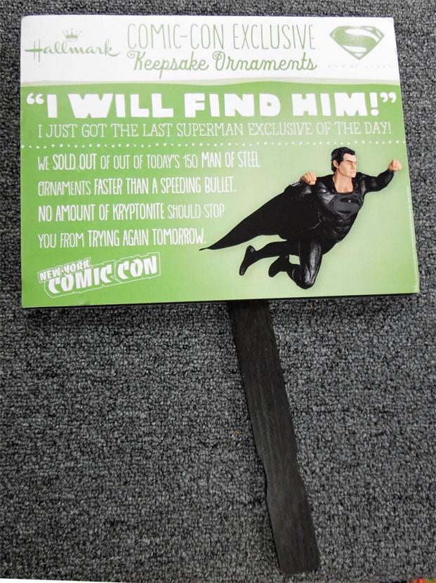 New york - die comic - con markenzeichen superman ornament linie grafikkarte