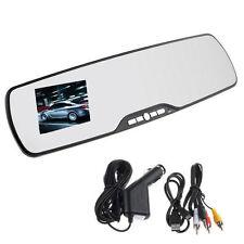 "HD 1080P 2.7"" LCD Car Camera Rearview Mirror Dash Vehicle DVR Video Recorder D4"