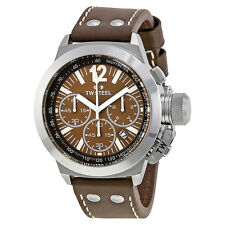 TW Steel CEO 45mm Chronograph Brown Dial Brown Leather Mens Watch CE1011R