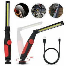 Magnetic Rechargeable Led Cob Work Light Mechanic Flashlight Car Inspect Lamp Us