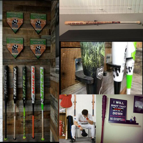 1pcs Vertical Baseball Bat Softball Bat Display Wall Mount Wall Rack Wall Holder