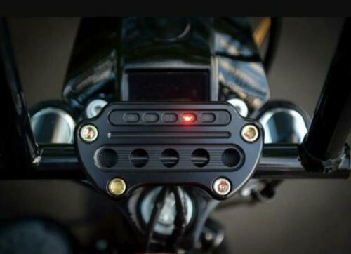 Black Indicator Light Top Clamp Handlebar Riser Clamp For Harley Dyna Sportster