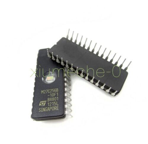 2PCS IC 27C256 CDIP-28 ST NEW M27C256B-10F1