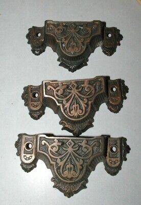 Antique Vintage Old Originial Cast Iron Eastlake Bin Pull