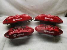09 16 Hyundai Genesis Red Brembo Calipers Set Of 4 Lh Rh Driver Passenger Oem