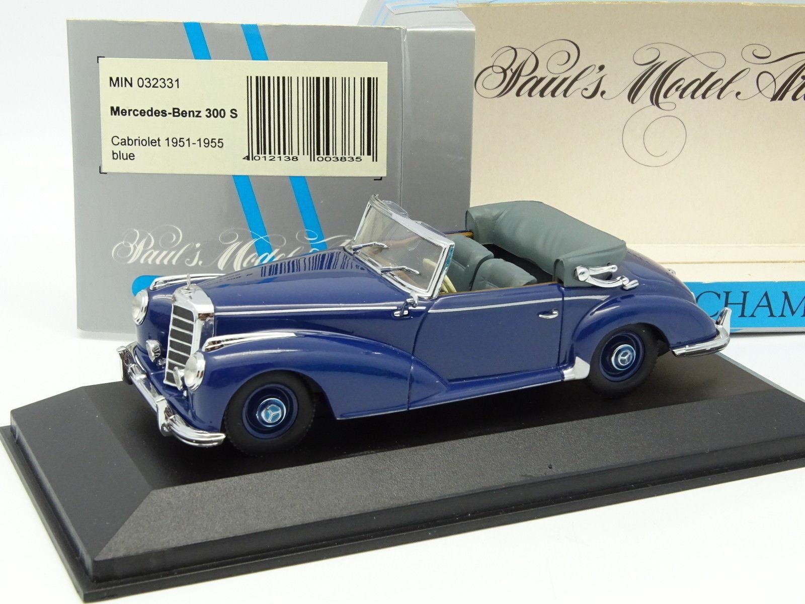 Minichamps 1 43 - Mercedes 300 S Cabriolet 1951 Bleue