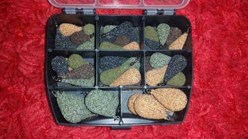Boîte pêche à la carpe plomb mixte taille et couleurs
