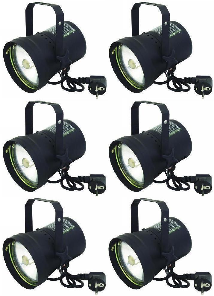 6x par 36 Miroir Balle-point projecteur Eurolite t-36 projecteur pinspot pin-spot