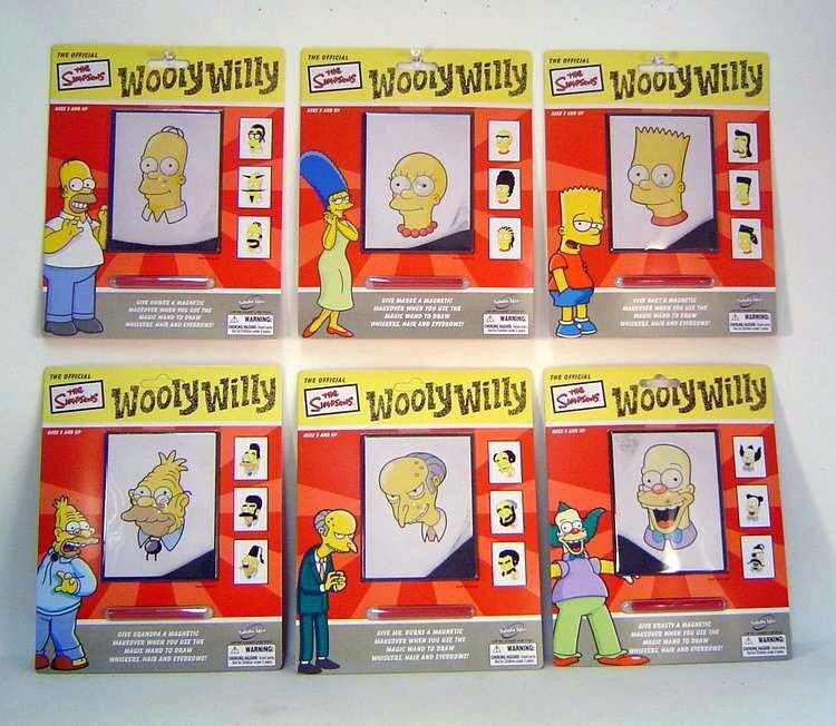 Simpsons set of 6 Simpson Wooly Willy Magnetic Toy