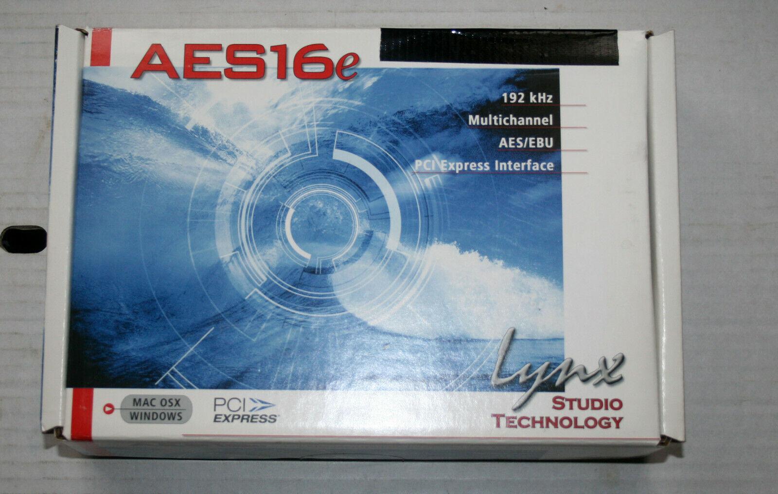 BOXED LYNX AES16e Digital 192kHz AES EBU PCIE CARD & XLR Breakout Cable