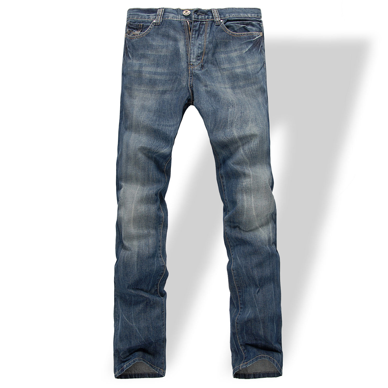 FOX JEANS Men's Gerald Classic Comfort-Fit Straight bluee Denim Jeans SIZE 40