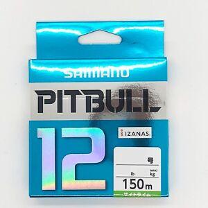 SHIMANO-PITBULL-X12-Braided-Line-PE-150m-Lime-Green-Select-LB-Free-Shipping