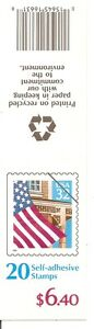 US-SC-BK228-Flag-Over-Porch-P-22222-Complete-Booklet-MNH