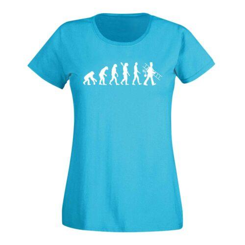 T-shirt Evolution ramoneurs cheminée Kehrer bonheur suie 15 Couleurs Femmes xs-3xl