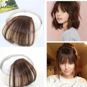 usa stock human hair clip in fringe light breathable air bangs front