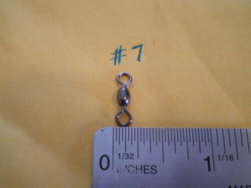 250 FISHING BLACK NICKEL CRANE SWIVEL SIZE #7-50 LBS FITS IN DO-IT MOLD TEST