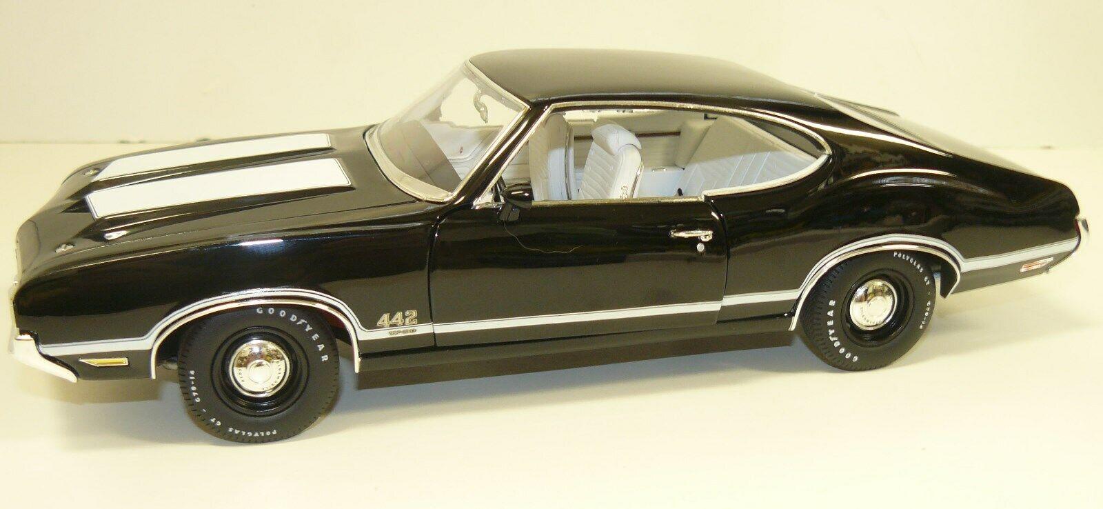 1 18, ACME 1970 OLDS 442, noir,  286 de 420, manquant un soleil visière sur le