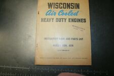 Wisconsin Air Cooled Heavy Duty Engines Instruction Bookparts List Models Abn