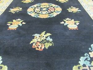 AN-AMAZING-OLD-HANDMADE-CHINESE-ORIENTAL-RUG-300-x-200-cm