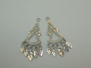 14k-white-Dangle-Earring-Jackets-For-Studs-2447A