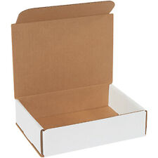 8 X 6 X 2 White Corrugated Mailingshipping Boxes Ect 32b 100 Pieces
