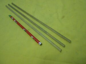 3-pc-LOT-of-POLYCARBONATE-ROD-machinable-plastic-round-bar-stock-1-4-034-OD-x-12-034