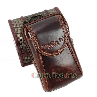 Men Cell Phone Cover Case Belt Bum Pouch Travel Hiking Hook Fanny Pack Waist Bag