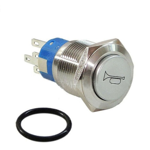 12V 16mm Momentary RED LED Marine Car   Horn Push Button Light Switch