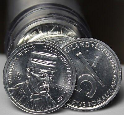 Aggressive Gem Unc Rollo 2002 Gem Unc ~ Richard Burton Explorador Agreeable To Taste 40 Somalia 5 Chelines