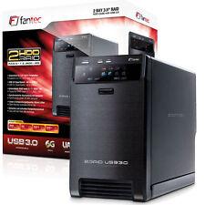 """6000 GB (2x 3000GB) 3,5"""" SATA Festplatte - FANTEC QB-X2US3R - USB 3.0 / RAID 6TB"""
