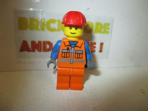 City Lego Minifigures Construction Worker Orange Zipper 7243 cty0014
