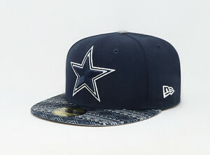 New-Era-59Fifty-Hat-NFL-Team-Dallas-Cowboys-Mens-Navy-Blue-Fitted-Cap-5950