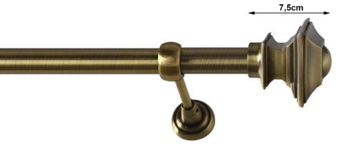 25mm Métal Barre à Rideaux Tringle à Rideau 1-läufig Laiton Antique Classique