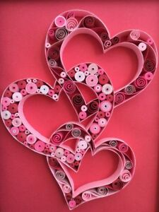 New Handmade Quilled Valentine Cards Best Valentine Gifts 5 X 7