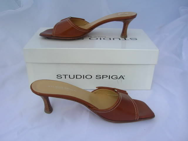 STUDIO SPIGA FOFANA SANDALS COPENHAGEN BROWN SANDALS FOFANA SLIDES 7.5 2c0223