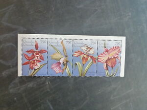 1996-GRENADA-GRENADINES-STRIP-4-ORCHIDS-MINT-STAMPS-MNH
