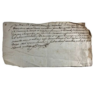 1600-1700-s-Authentic-Antique-Manuscript-Paper-Document-European-Letter-Old-Ink