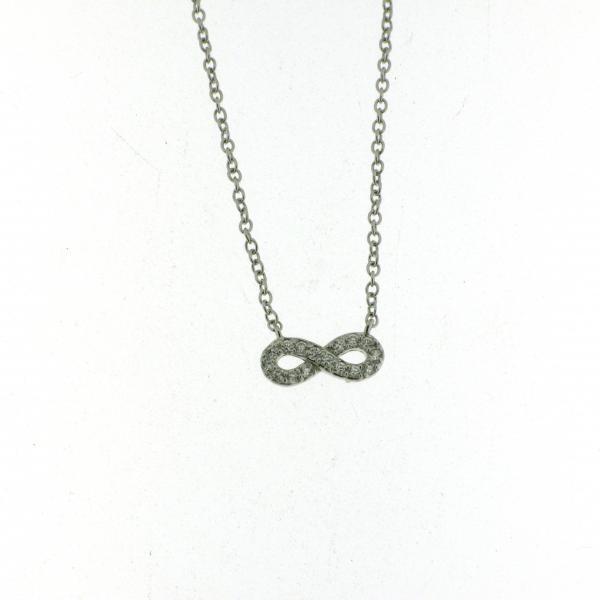 Collana con Piccolo Infinito silver 925 Rodiato Brillanti Innamorati Infinity