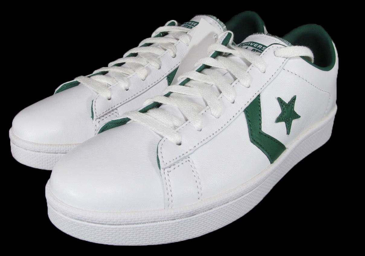 Converse Cons Pro Leather Ox Low Top Oxford sautope da ginnastica Chevron bianca verde 136762C