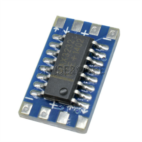 10Pcs Serial Port Mini RS232 to TTL Converter Adaptor Board MAX3232