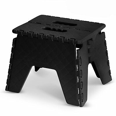 Excellent Heavy Duty Folding Step Stool Black 9 Small Anti Slip Ladder Kids Home Kitchen Ebay Andrewgaddart Wooden Chair Designs For Living Room Andrewgaddartcom