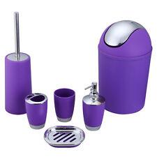6Pcs Bathroom Accessory Set Bin Soap Dish Dispenser Tumbler Toothbrush Holder K8