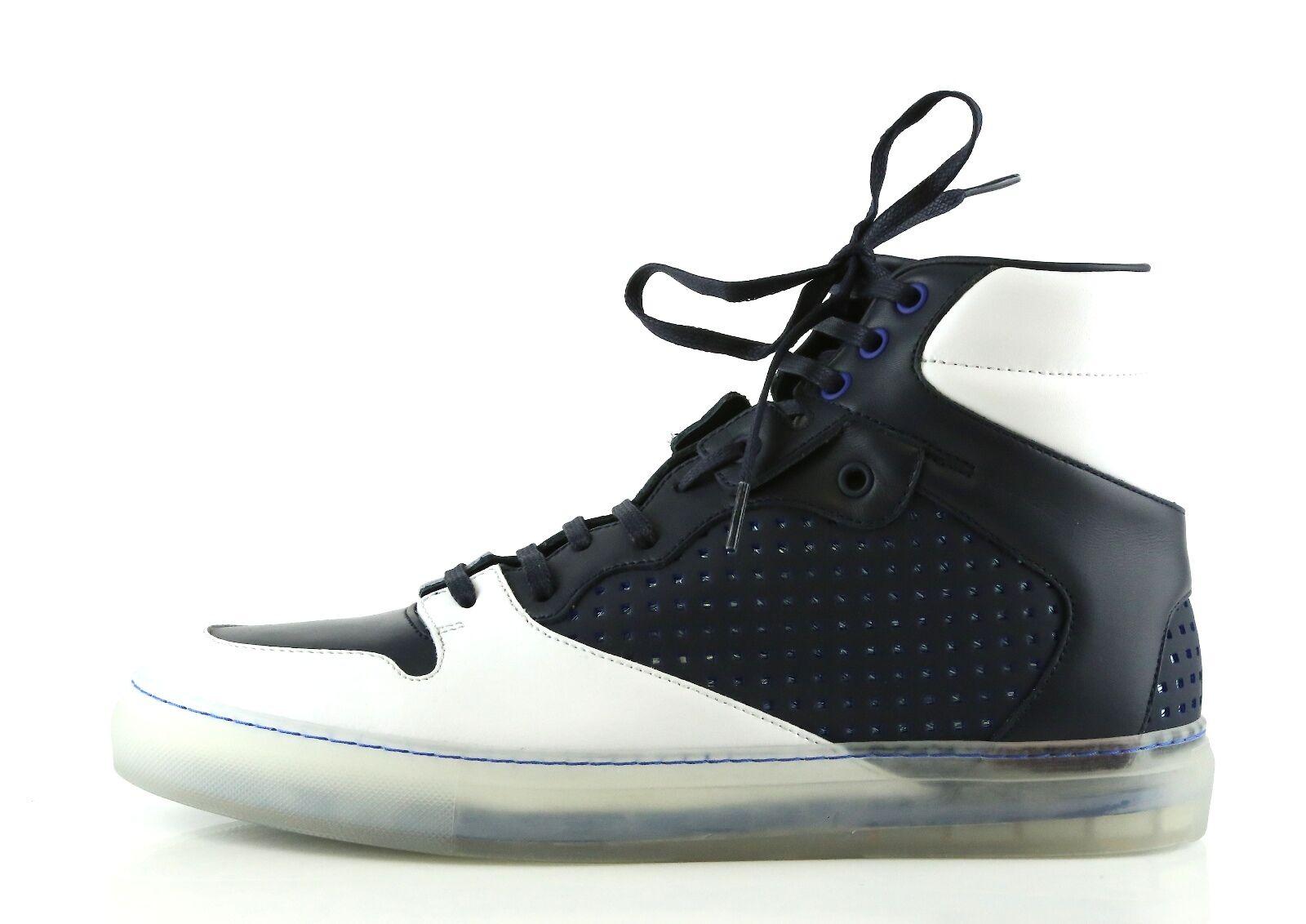 BALENCIAGA Men's Pelle S. Gomme Navy bluee High Top Sneakers 6073 Size 40 EU