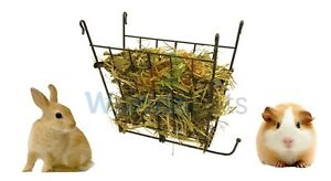 ROSEWOOD-RABBIT-GUINEA-PIG-SMALL-ANIMAL-HANGING-FOLDING-WIRE-CAGE-HAY-RACK-19289