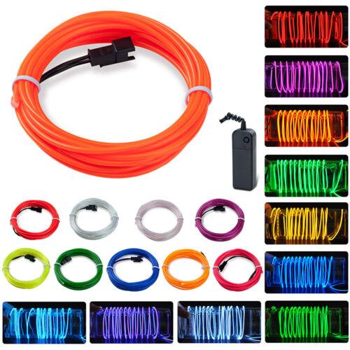 EL Wire LED Batterie Lichterkette Halloween Neon Licht Party Neonlichter Cool